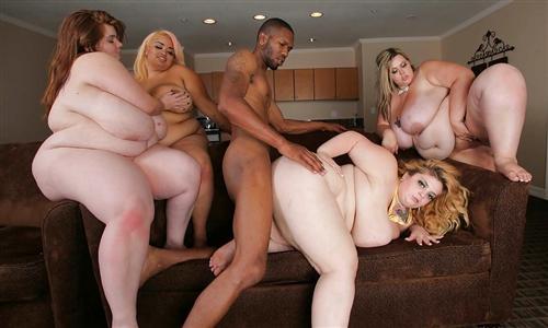 Групповое порно с толстыми